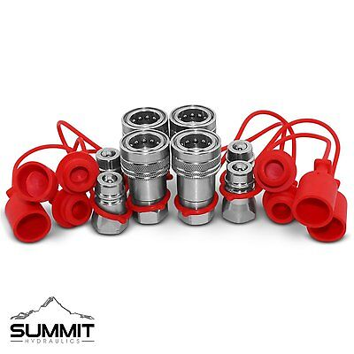12 Ag Hydraulic Quick Connect Couplers Couplings Ball Pioneer Style 4 Sets