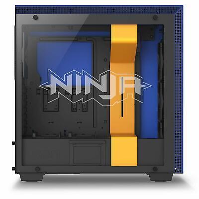 NZXT H700i Ninja Blue/Yellow ATX Mid Tower Tempered Glass Desktop Computer -