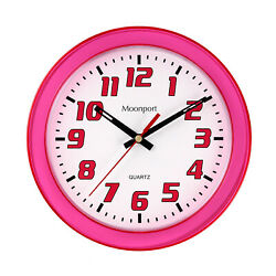 8 Inch Wall Clock,Silent Non-Ticking Quartz Battery Operated Round Easy to Read