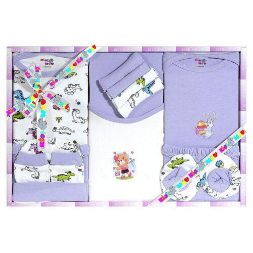 New Born Baby Gift Set Unisex 13 Pieces 100% Cotton Dress Pant T shirt Towel Cap