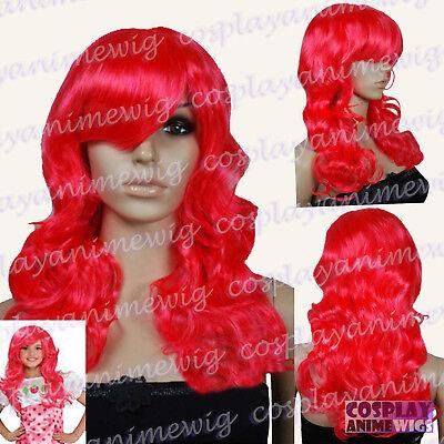 Strawberry Shortcake Red Wavy Long Cosplay Wigs - Strawberry Shortcake Wigs