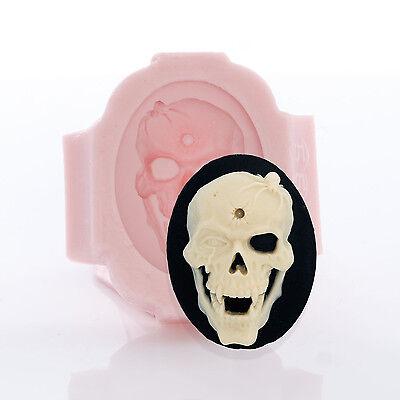 Глинистые формы Skull Cameo Silicone Mold
