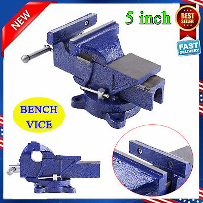 Heavy Duty 5 Work Bench Vice Vise Workshop Clamp Engineer Jaw Swivel Base Table