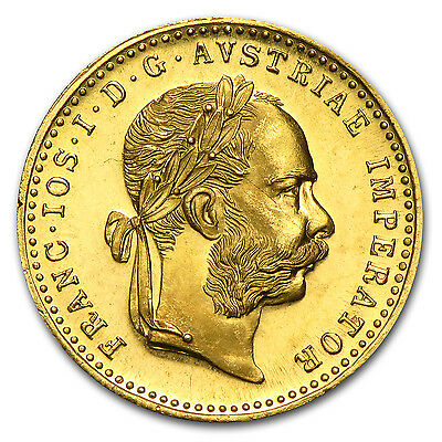 1915 Austria Gold 1 Ducat Brilliant Uncirculated BU Prooflike Coin
