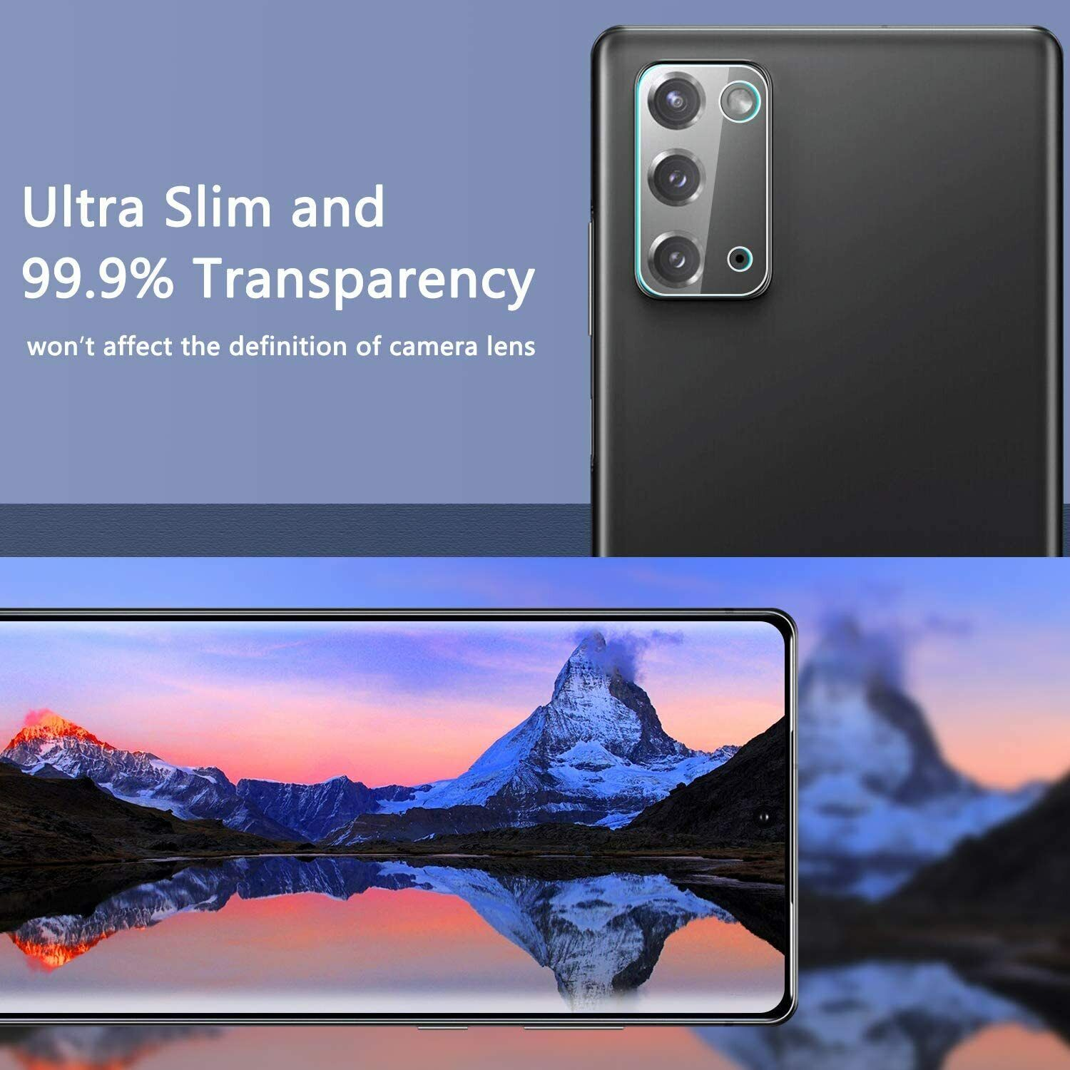 Tempered Glass Rear Camera Lens Protector For Samsung Galaxy Note 20 Ultra 5G - $3.95