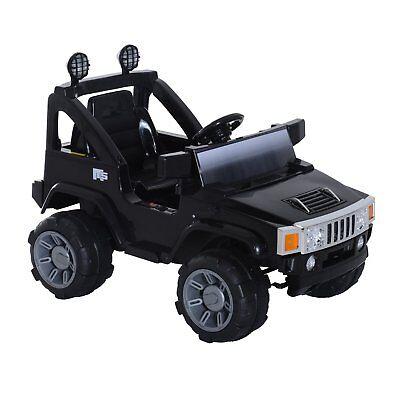 HOMCOM Macchinina Elettrica certificata per Bambini Modello Jeep con MP3