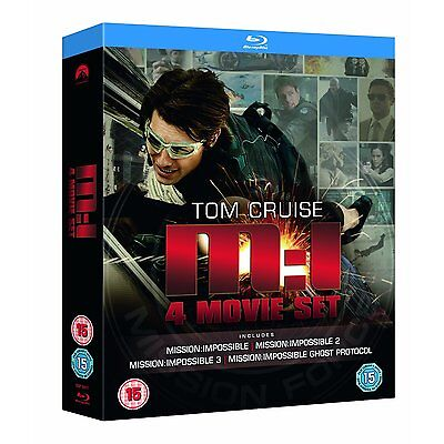 Mission Impossible 1 4 Movie Collection Blu Ray Box Set New Free Ship