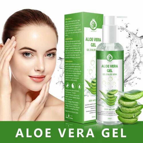 Aloe Vera Gel 100% Bio für Gesicht Haare und Körper Vegan Rein und Natürli 250ml