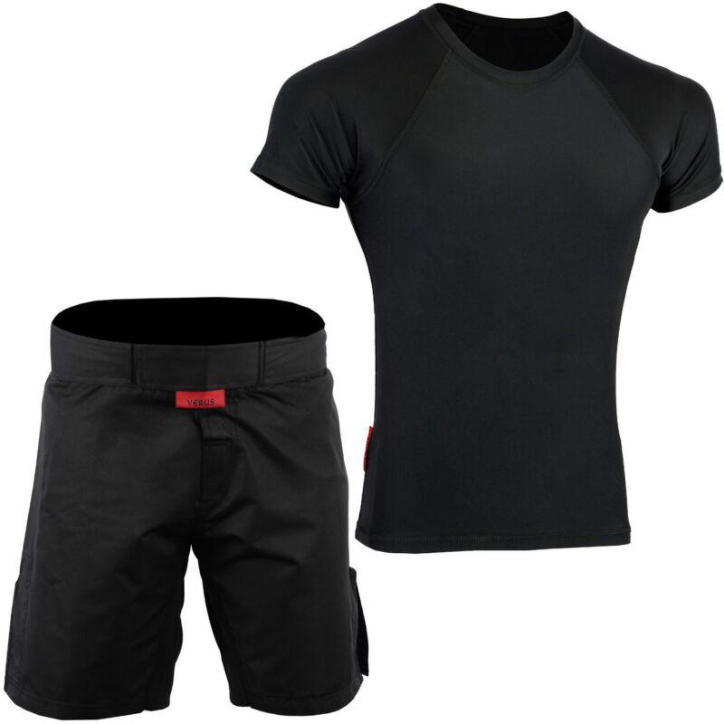 ROAR No Gi Wear BJJ Grappling MMA Rash Guard IBJJF Fight Training Shorts UFC Set