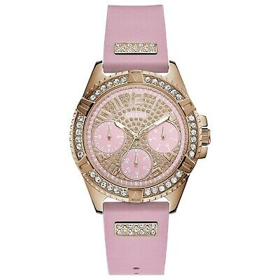 Guess Frontier Womens Analog Quartz Watch with Silicone Bracelet W1160L5