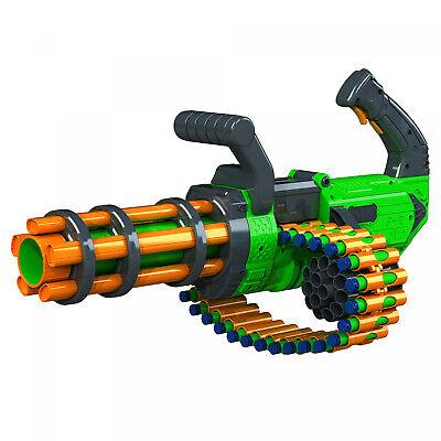 Gatling Machine Gun Motorized Automatic Rapid-Fire Belt Dart Blaster For Kids