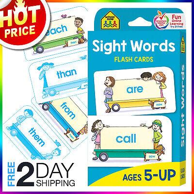 Sight Words Flash Cards For Kids Ages 5 Up Early Reading Learning Preschool Reading Sight Words