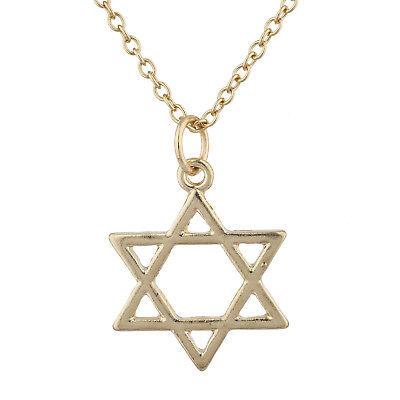 Lux Accessories Gold Tone Star of David Hanukkah Jewish Charm Pendant Necklace](Hanukkah Accessories)