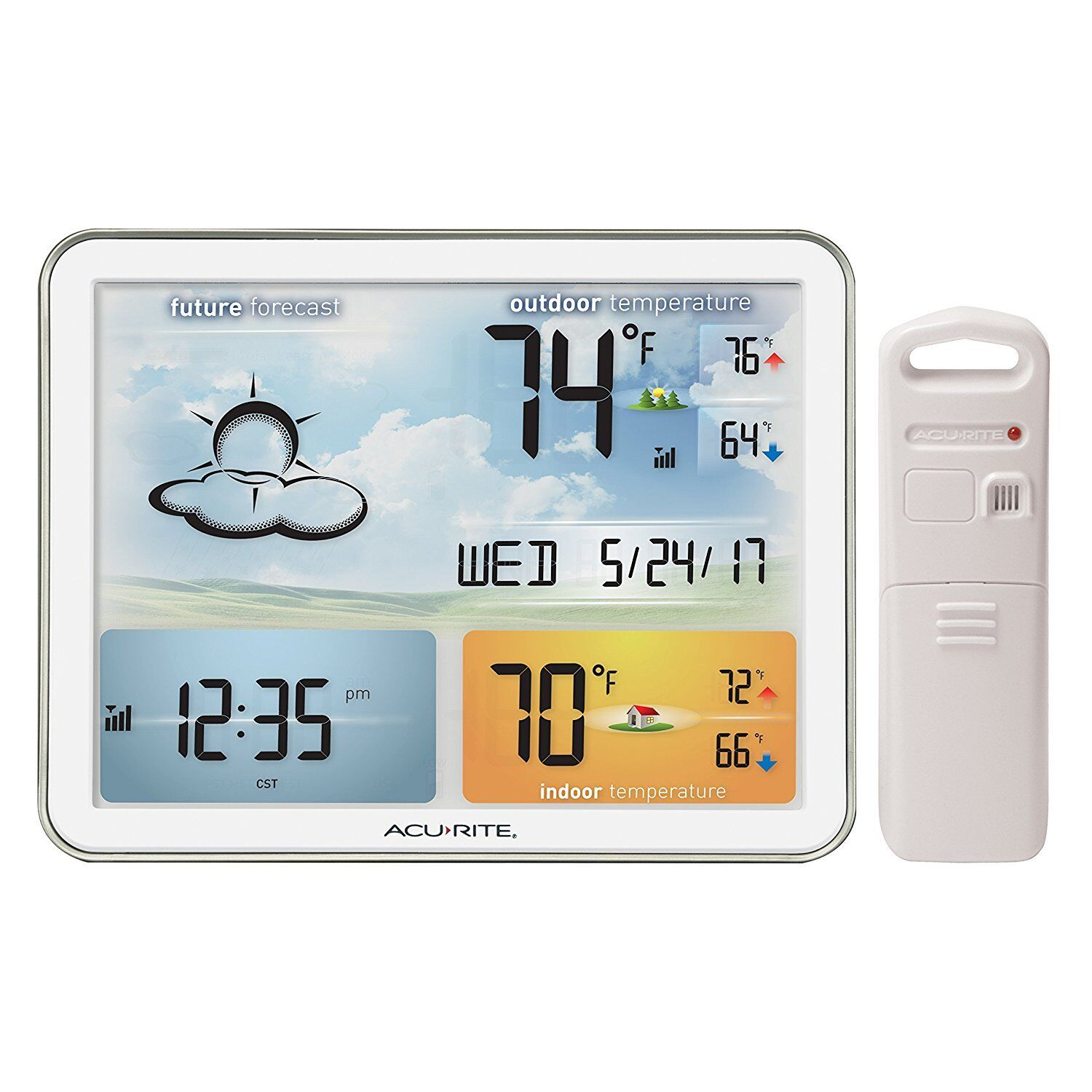 AcuRite 02081M Weather Station with Jumbo Display and Atomic Clock