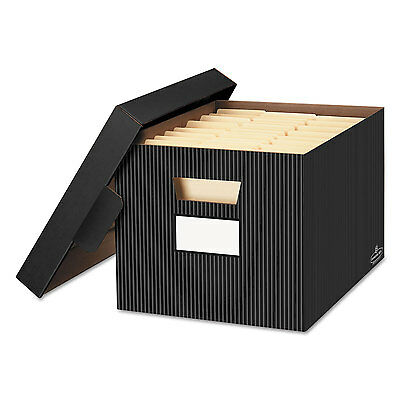 Bankers Box STOR/FILE Decorative Storage Box Letter/Legal Black/Gray 4/Carton