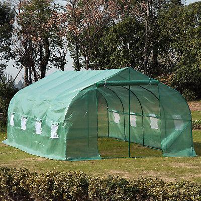 20'x10'x7' Walk-In GREEN HOUSE Plant Gardening Greenhouse Steel Portable Oudoor