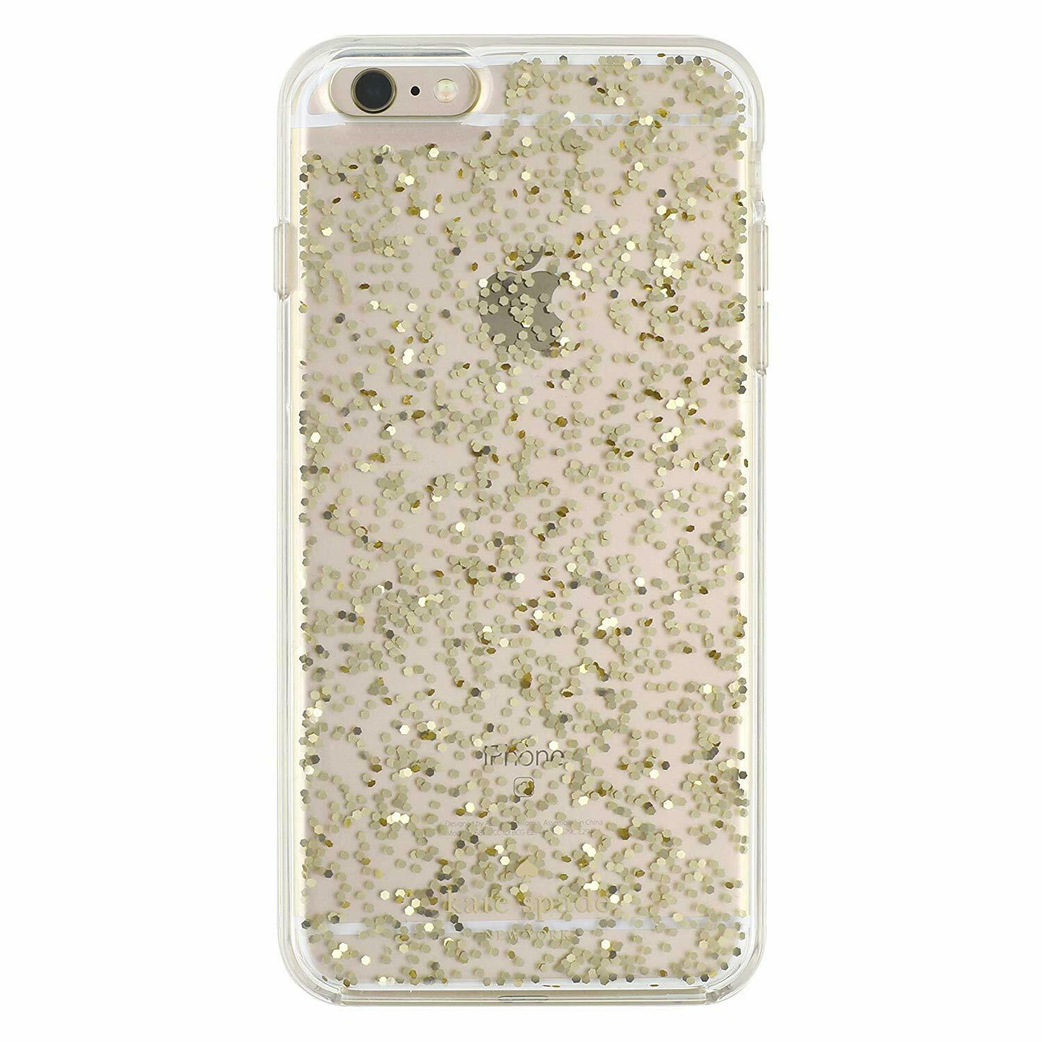 Kate Spade Clear iPhone 6 Plus iPhone 6s Plus Hardshell Case Cover Gold Glitter Cases, Covers & Skins