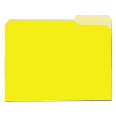 Universal Recycled Interior File Folders 13 Cut Top Tab Letter Yellow 100box