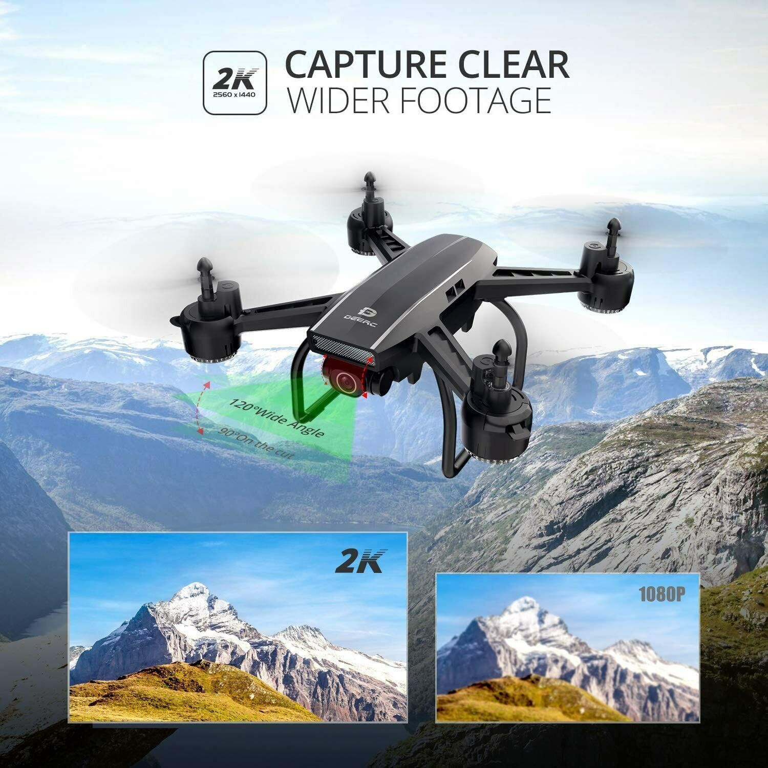 Holy Stone D50 2.4G FPV Drone 2K HD Video Camera RC Quadcopter with 2 Batteries 2