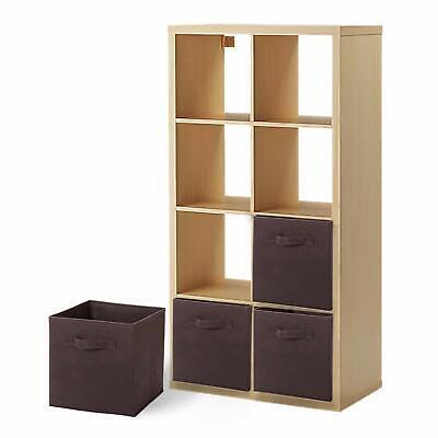 6 X Foldable Cube Storage Folding Boxes Clothes Organizer Unit Container (Folding Storage Cube)