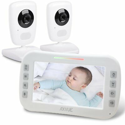 "Axvue E632 Video Baby Monitor, 5"" LCD Screen and 2 Camera, OPEN BOX"