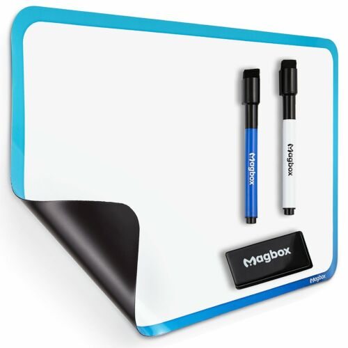 "Dry Erase Magnetic Whiteboard for Fridge by Magbox - 11"" x 17"" Sheet. Magnet Boa"