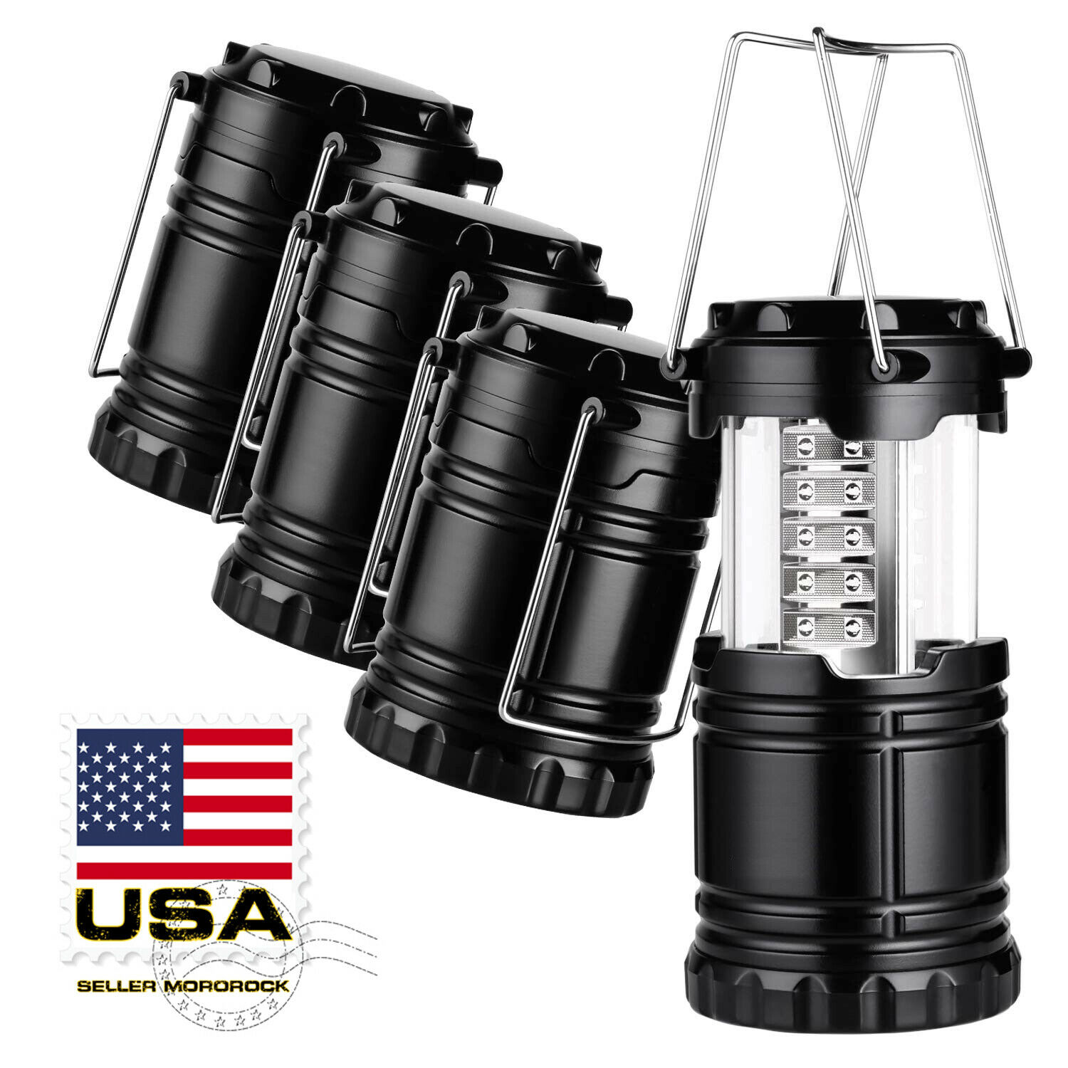 4X Collapsible LED Lanterns Tac Light Emergency Outdoor Hiki