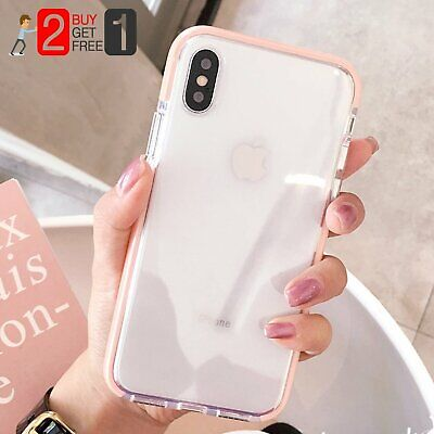 Girl Clear Soft Silicone Shockproof Case Cover For iPhone 11 Pro XS Max XR 7 8+