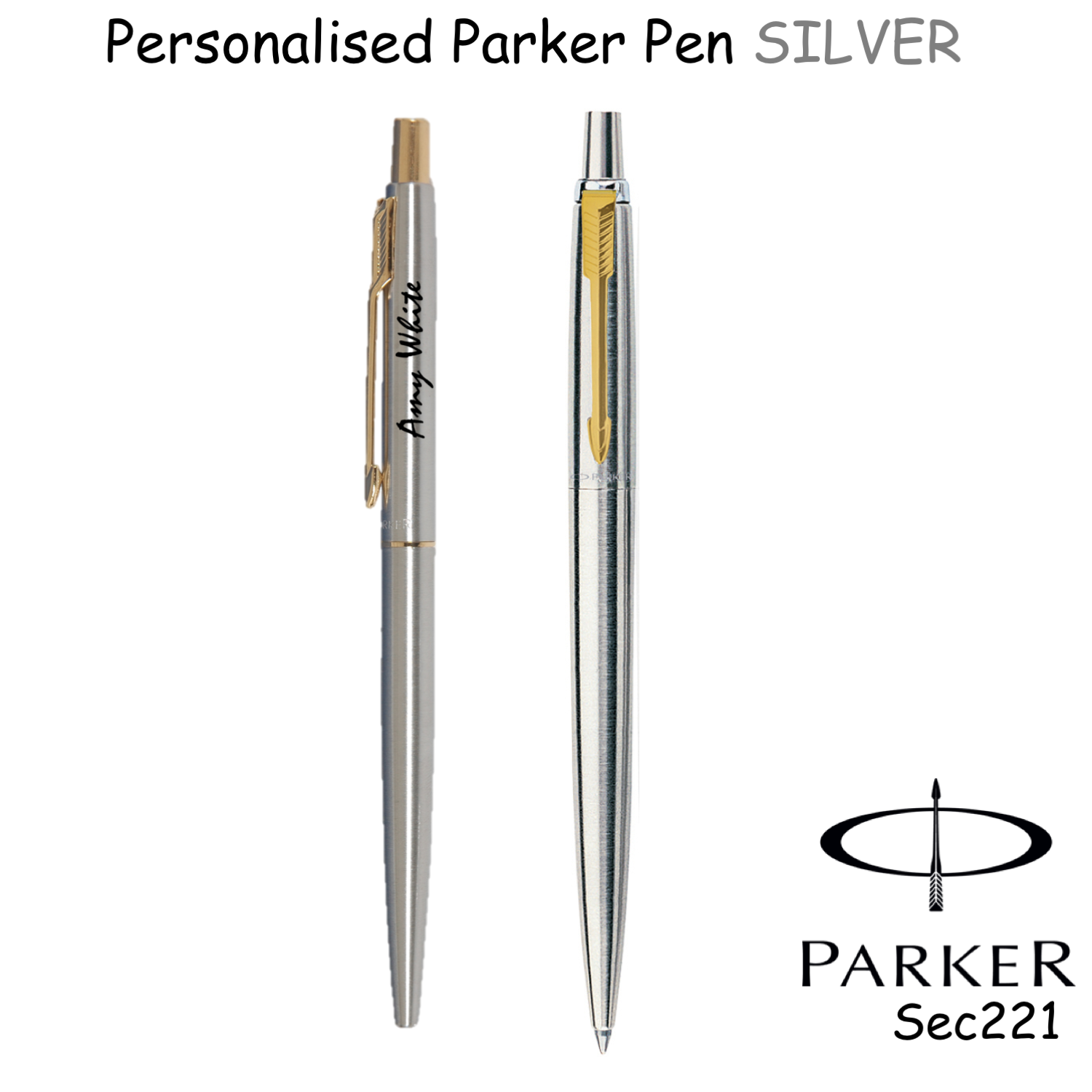 GIFT Box option PRESENT Personalised Engraved Parker Jotter Ballpoint Pen