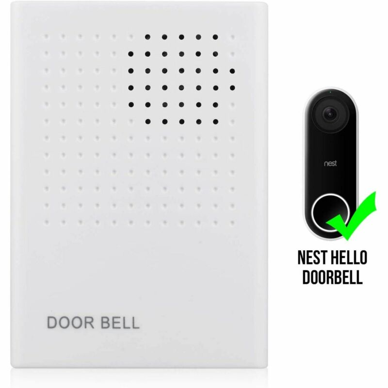 Nest Hello Video Doorbell Wired Chime 90 db Adjustable Volume Ring Sound