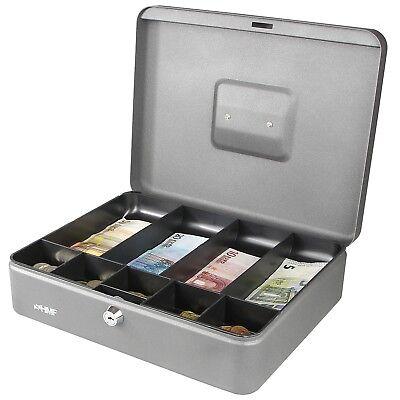 HMF Geldkassette 300 mm, Geldeinsatz für Schein- Münzfächer, Geldkasse Silber