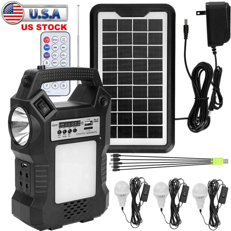 Portable Power Station Solar Generator Outlet Kit Camping Emergency Power Supply