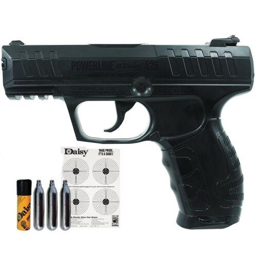 Daisy Powerline 426 CO2 Powered Semi-Auto .177 BB Black Air Pistol Kit (Refurb)