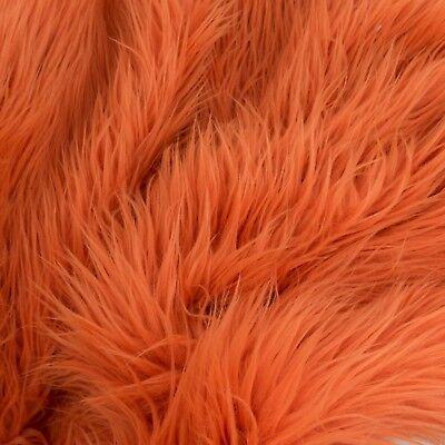 Soft FAUX FUR Fabric ORANGE PUMKIN Long MONGOLIAN MOHAIR Flokati Photo Prop BTY  (Pumkin Costumes)