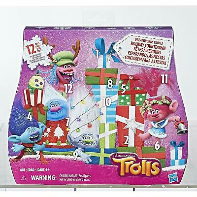 Dreamworks Trolls Advent Holiday Christmas Calendar Incl. Holiday Themed Figures