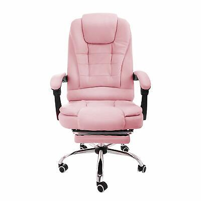 Halter Reclining Leather Office Chair - Modern Executive Pink