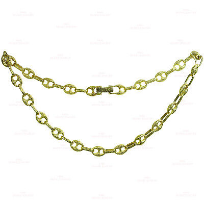 Iconic Vintage GUCCI Solid 18k Yellow Gold Link Necklace
