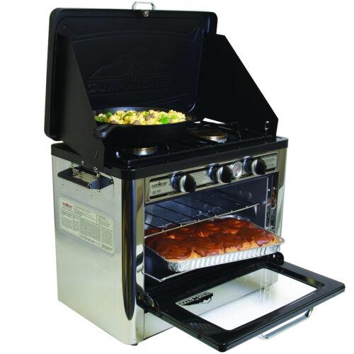Portable Outdoor Oven w 2 Burner Stove Propane Range Tail Gating Camping Yard