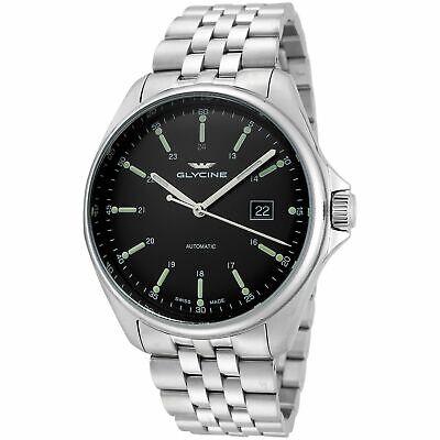 Glycine 3890.191.MB Men's Combat 6 Classic Black Automatic Watch