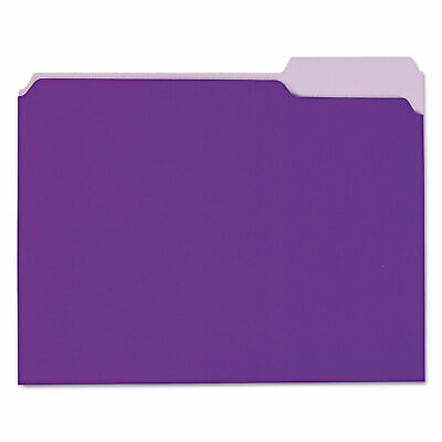 Universal Recycled Interior File Folders 13 Cut Top Tab Letter Violet 100box