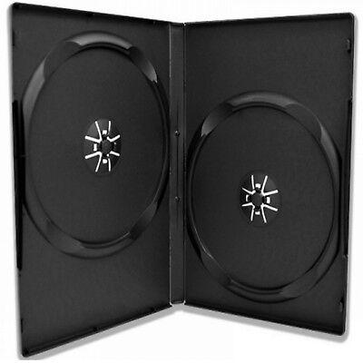 50 x 2 FACH 14mm BOX DVD HÜLLEN 2er CD/BLURAY CASE LEERHÜLLEN HÜLLE f. ROHLINGE