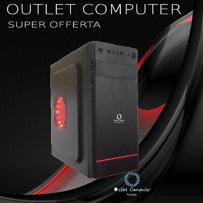 "CASE PC GAMING OUTLET COMPUTER MINI ATX MODELLO ""EAGLE"" LED ROSSO"