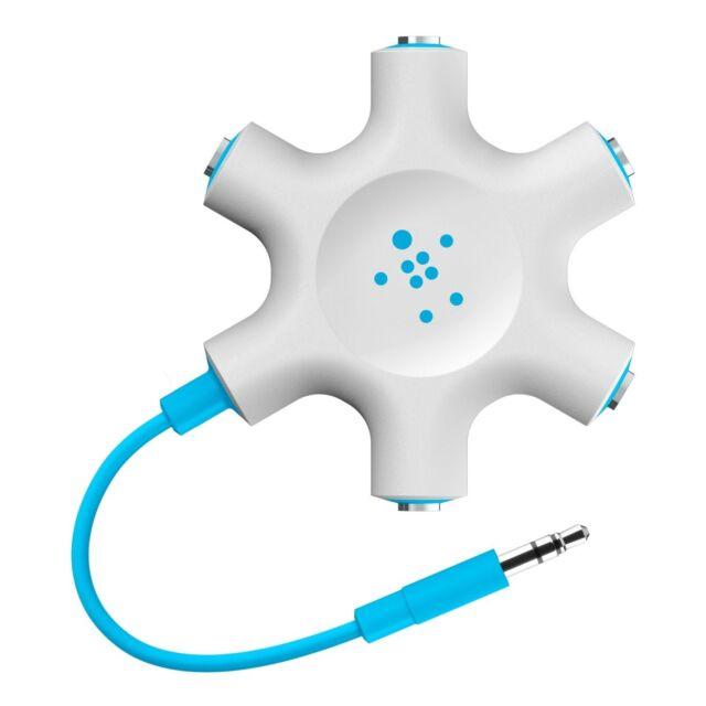Belkin RockStar Multi Headphone Splitter 5 Way for iPhone Galaxy HTC Nokia iPod