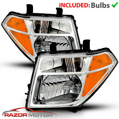 2005-07/08 Replacement Headlight Pair For Nissan Pathfinder/Frontier W/ Bulb