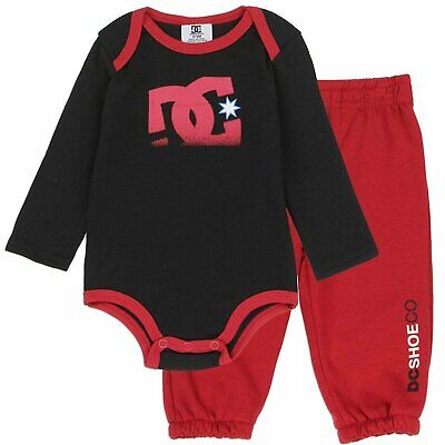 DC Shoe Baby Boys 2-Piece Long Sleeve Thermal Bodysuit & Lounge Pants Set Baby Boys Thermal Bodysuit