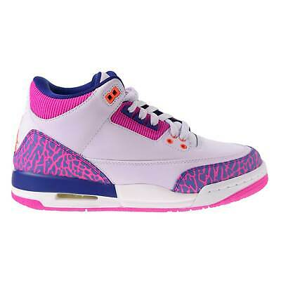 Air Jordan 3 Retro Big Kids Shoes Barley Grape-Fire Pink-Purple 441140-500