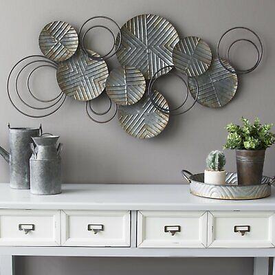 Wall Art Handmade Metal Plate Sculpture Paint Wall Hanging Decorative Room -
