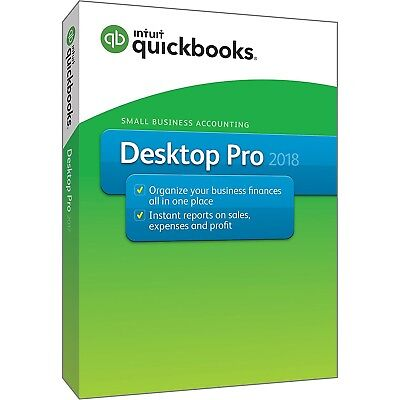 Intuit Quickbooks Desktop Pro 2018 Small Business Accounting Software  Pc Disc