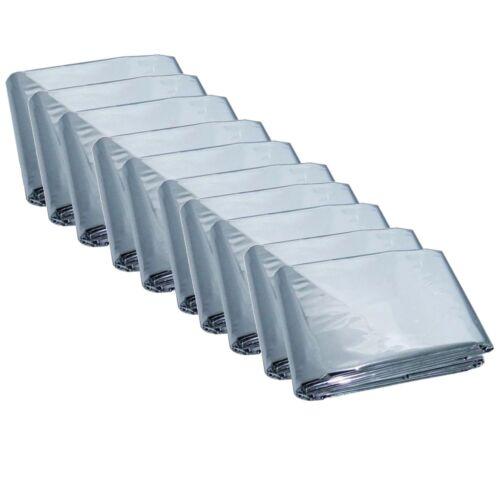 10 Pack Emergency Solar Blanket Survival Safety Insulating Mylar Thermal Heat-10