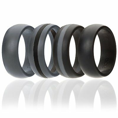 silicone wedding ring men 4 pack affordable